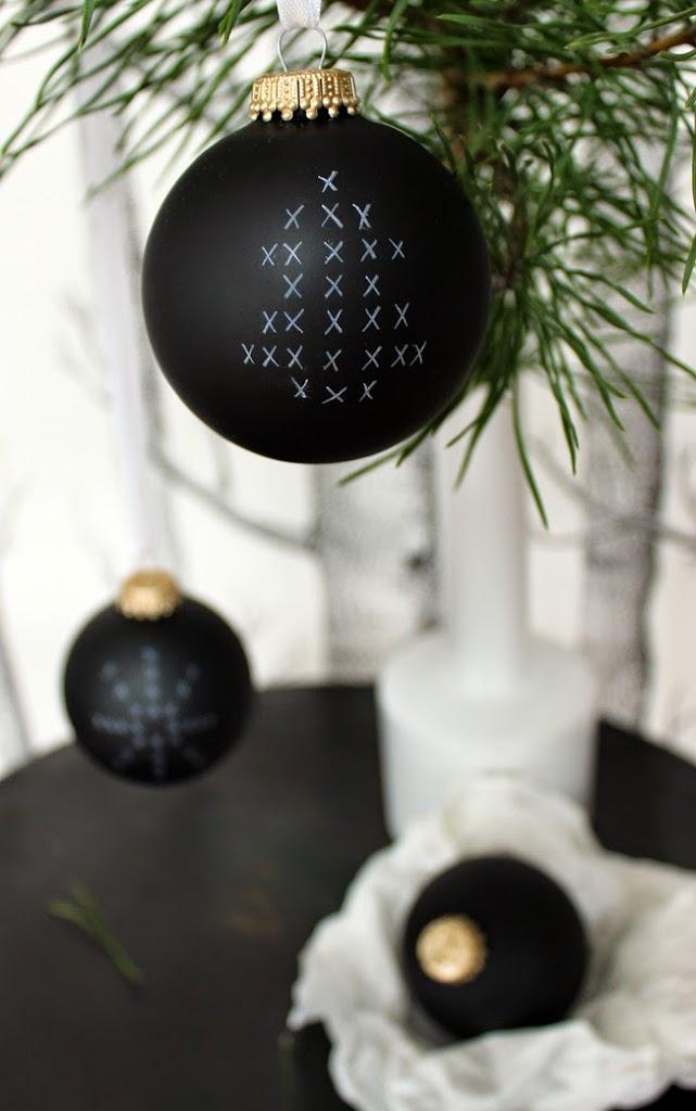 Diy archive seite 2 von 4 - Weihnachtsbaumkugeln schwarz ...