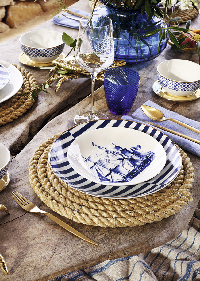 Zara-Home-Summer-2015-Tableware-Geschirr-jennadores-blau-Interior-Inspiration-Kollektion