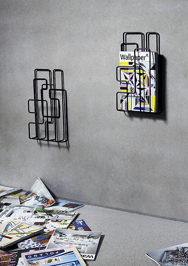 Minus-tio-Little-Saturday-wall-mounted-magazine-rack-black-Blog-jennadores