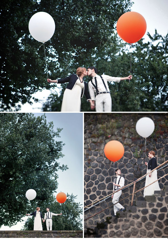 Hochzeit-schwarz-weiß-blog-jennadores-vanessa-und-vitor-farbkonzept-wedding-black-and-white-dresscode-porträts-orange-Ballon-collage