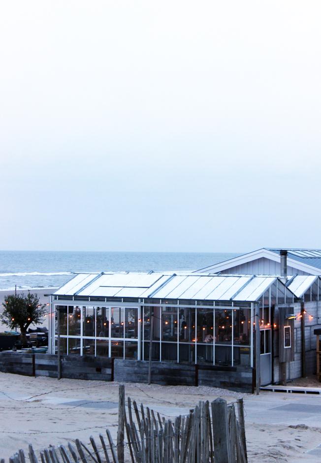 Branding-Beachclub-Noordwijk-Blog-Jennadores-Außenansicht-Lichterkette-Gewächshaus-Beachclub-Holz-Düne-Noordsee-Holland