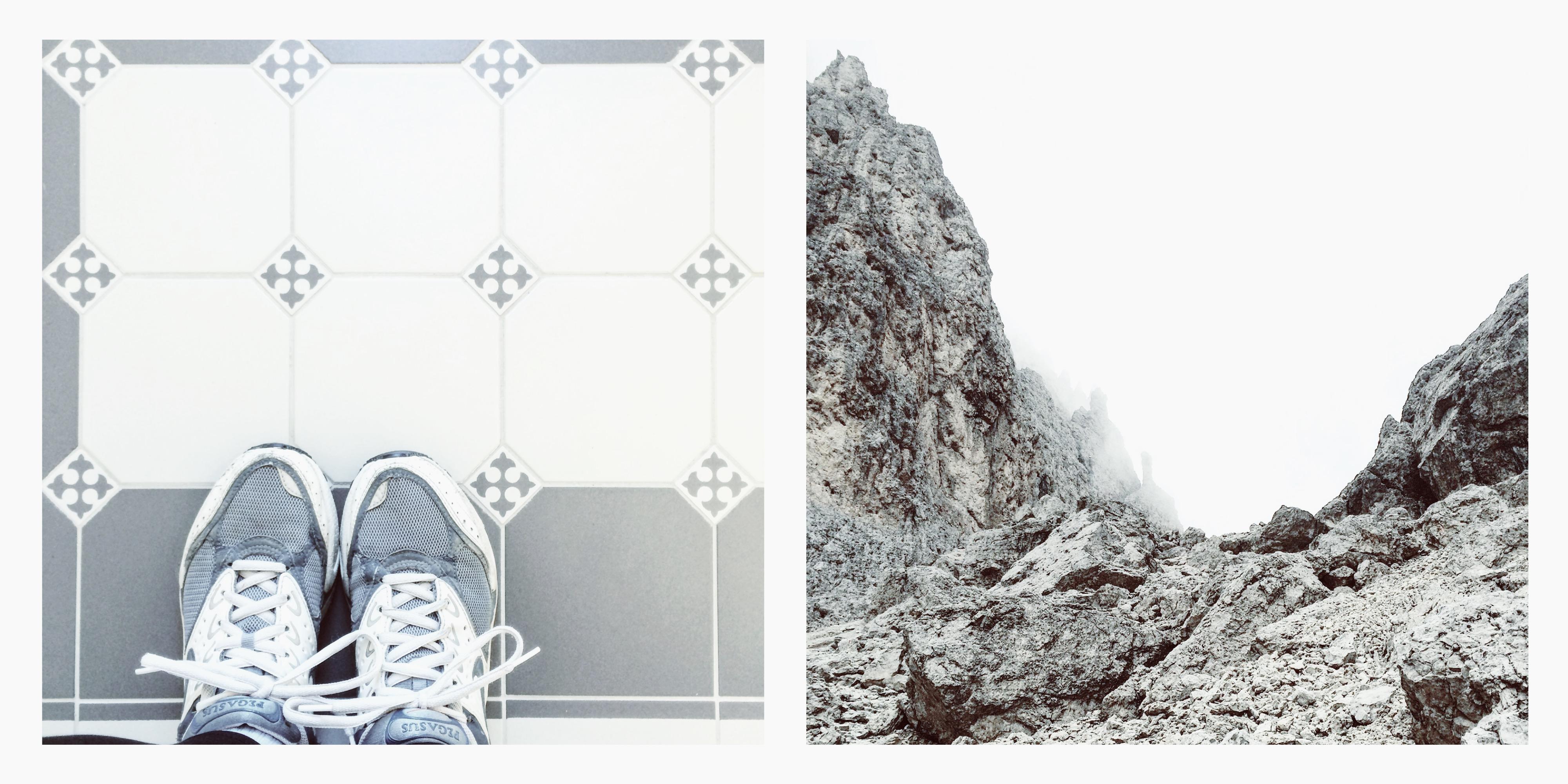 Collage-Oktober-Instagram-Jennadores-Blog-Rückblick-Walken-Wandern-Dolomiten