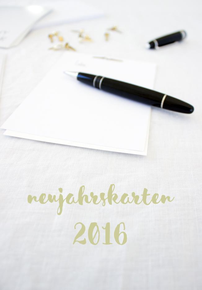 DiY: Neujahrskarten für 2016