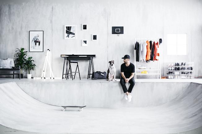 Ikea, Spänst Kollektion, Chris Stamp, Betonboden, Halfpipe, Loftstyle