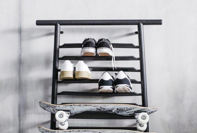 Ikea, Kollektion, Spänst, Halter,Skateboard, schwarz