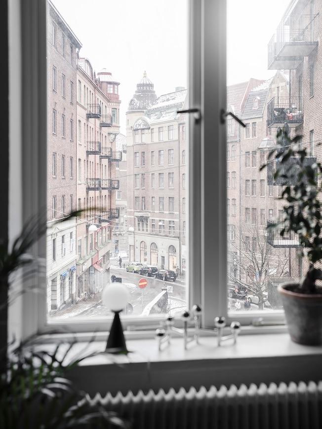 Wohnen, Industriegebäude, Ausblick, Fenster, Göteborg