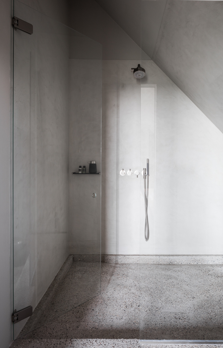 The Bunkers, Knokke-Heist, Bed & Breakfast, Bad, Dusche, Beton, Architektur