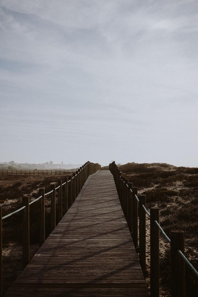 Portugal, Meer, Atlantik, Holzsteg