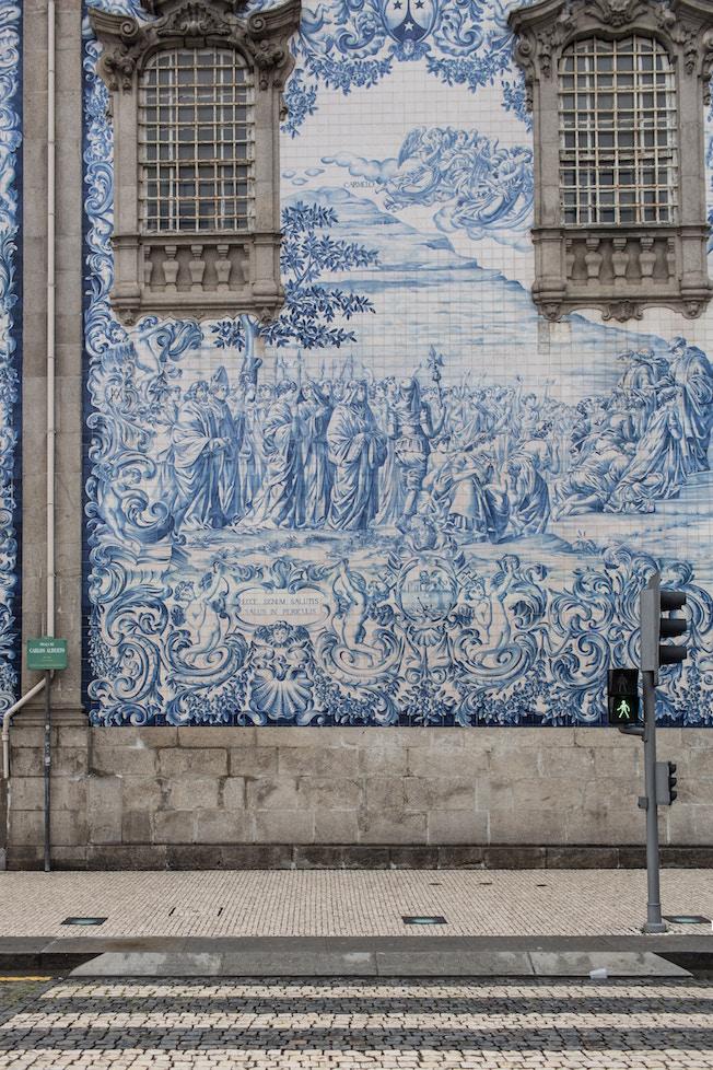 Portugal, Fassade, Porto, blau, Fliesen