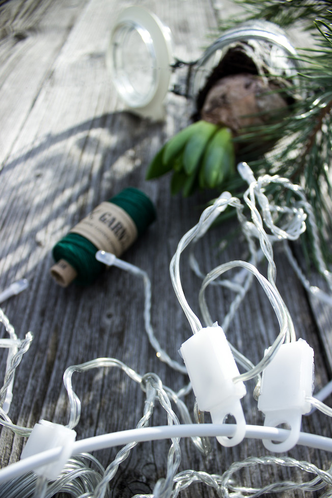 Befestigung Adventsbeleuchtung für den Garten